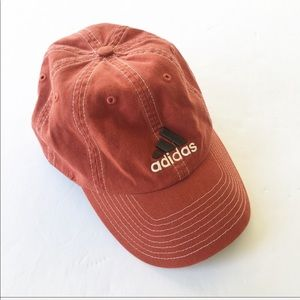 Adidas | Rust Orange 3 Stripes Logo Baseball Hat